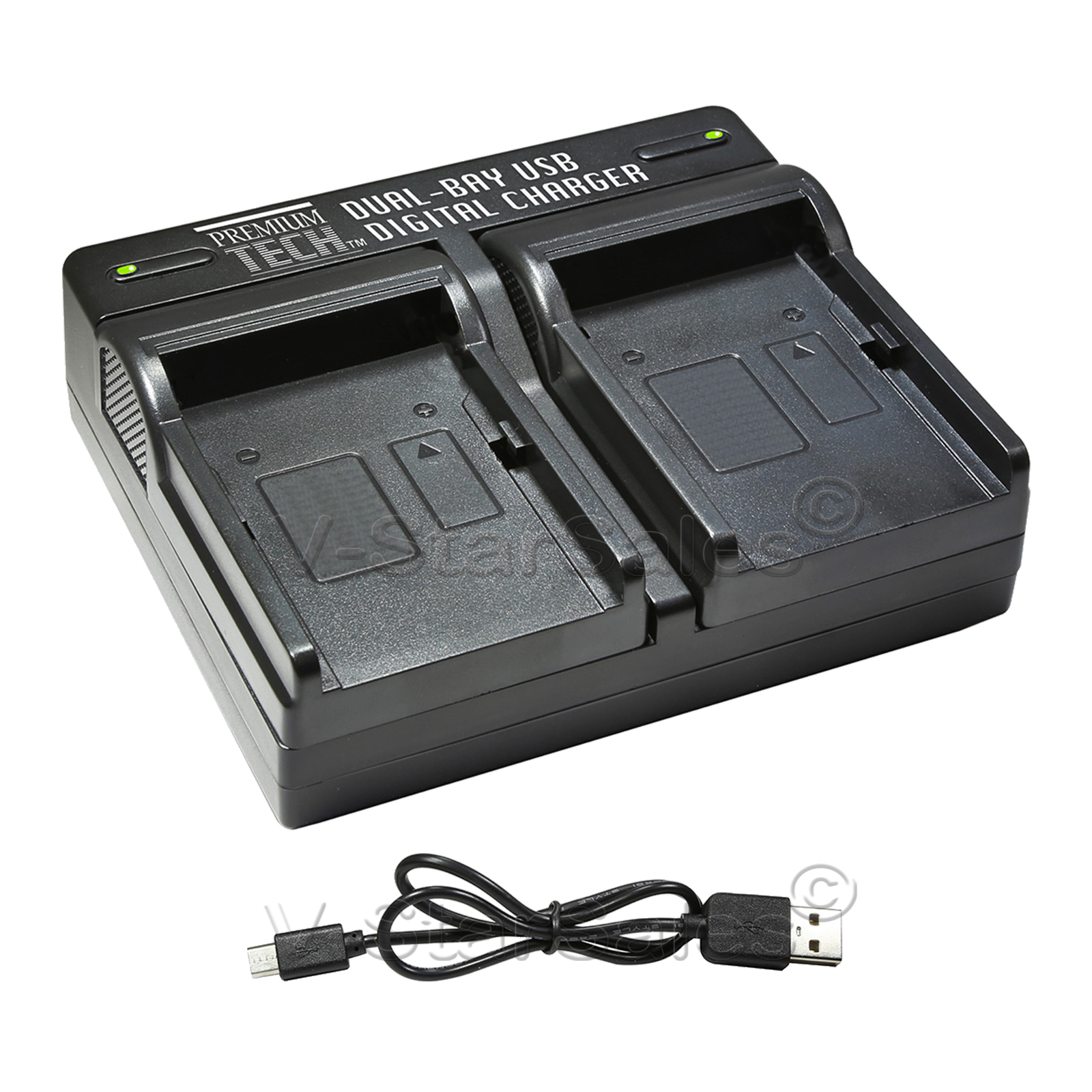 PTD-96 USB Dual Battery AC//DC Rapid Charger For Canon LP E17